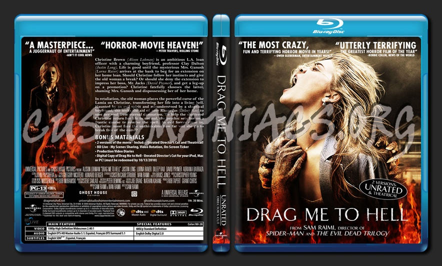Drag Me To Hell Blu Ray Cover Dvd Covers Labels By