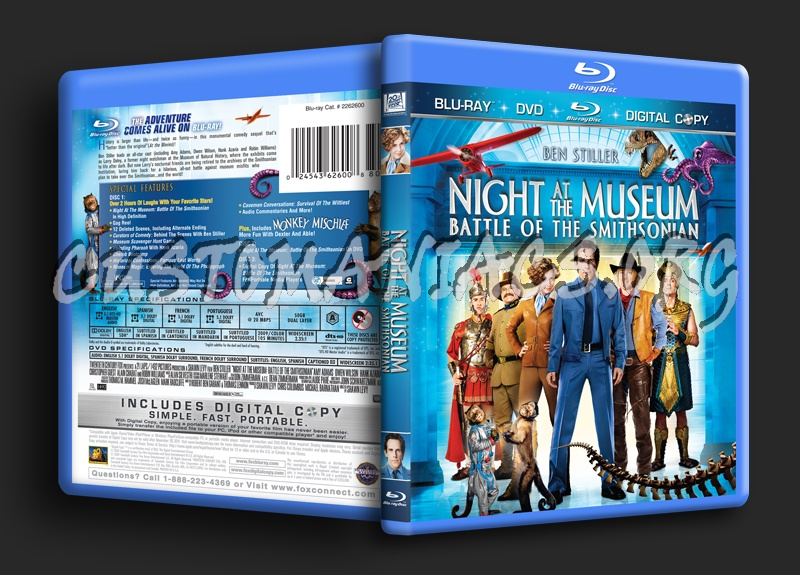 Night at the Museum 2 blu-ray cover