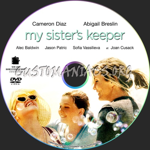 My Sister's Keeper dvd label