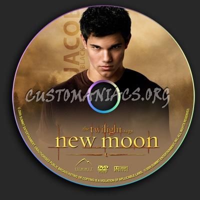 The Twilight Saga - New Moon dvd label