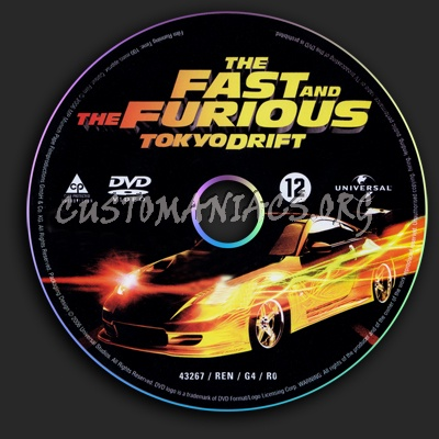 The Fast And The Furious - Tokyo Drift dvd label