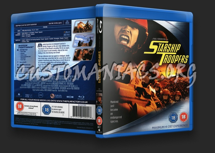 Starship Troopers blu-ray cover
