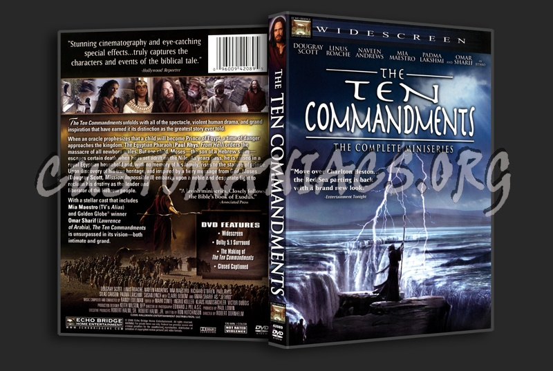 The Ten Commandments The Complete Miniseries dvd cover