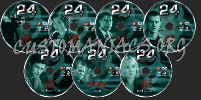 24 Season 3 dvd label