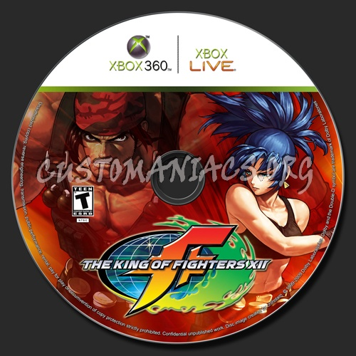 King Of Fighters Xii Dvd Label Dvd Covers Labels By