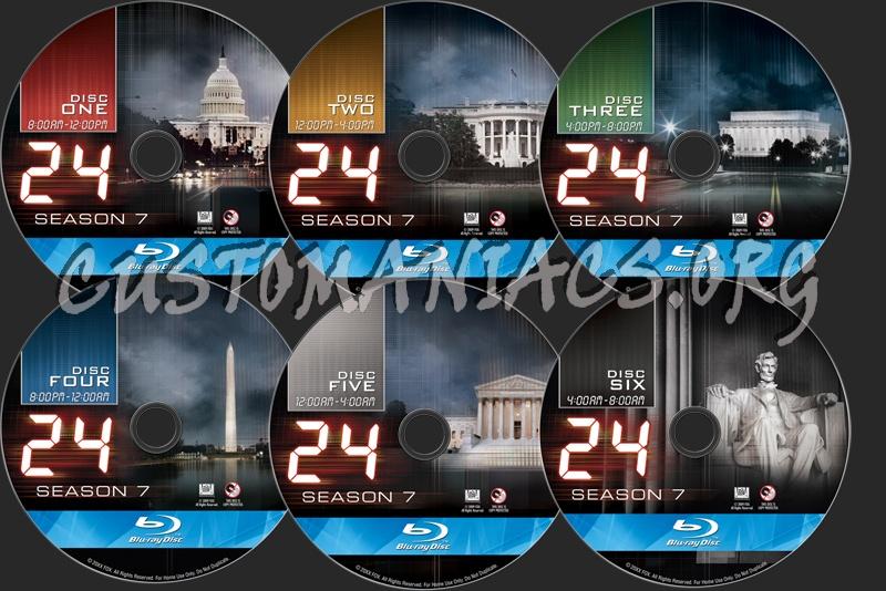 24 Season 7 blu-ray label