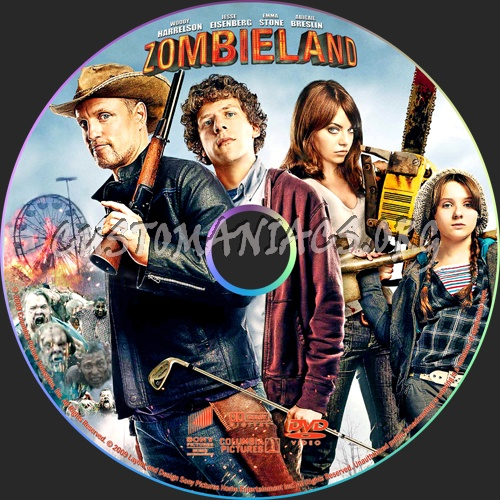 Zombieland dvd label