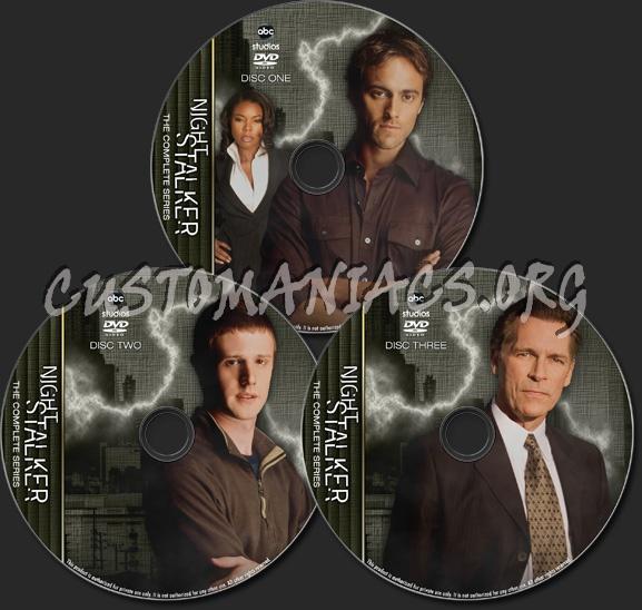 Night Stalker - TV Collection dvd label
