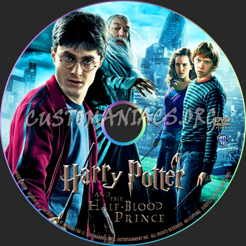 Harry Potter and the Half-Blood Prince dvd label