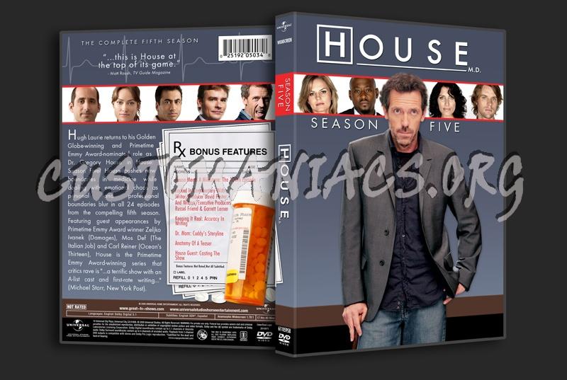 House MD - Season 5 dvd cover