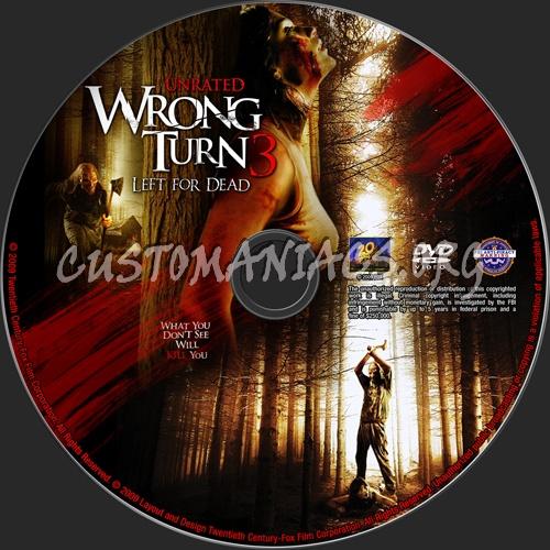 Wrong Turn 3 Left for Dead dvd label