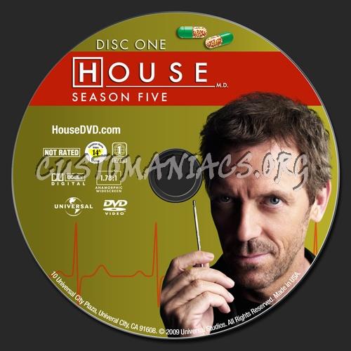 House MD Season 5 dvd label