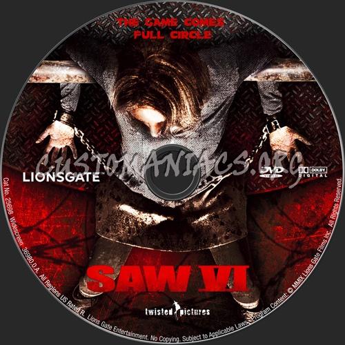 Saw VI dvd label