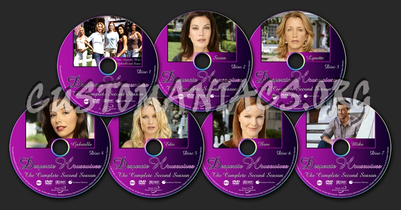 Desperate Housewives - Season 2 dvd label