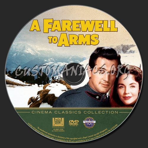 A Farewell to Arms dvd label