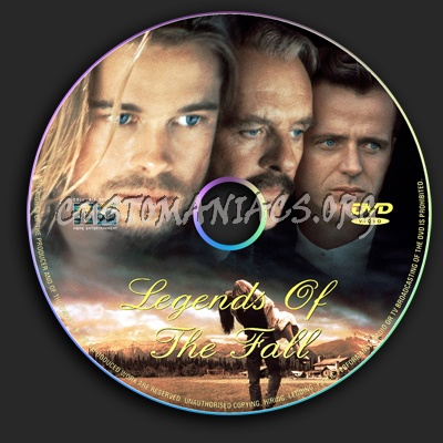 Legends Of The Fall dvd label