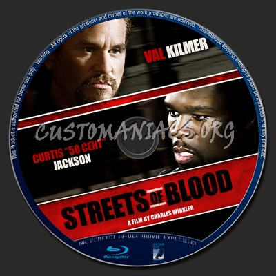 Streets Of Blood blu-ray label