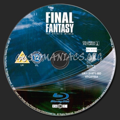 Final Fantasy - The Spirits Within blu-ray label