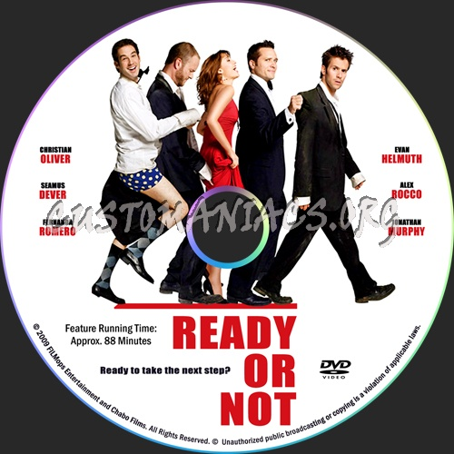 Ready Or Not dvd label