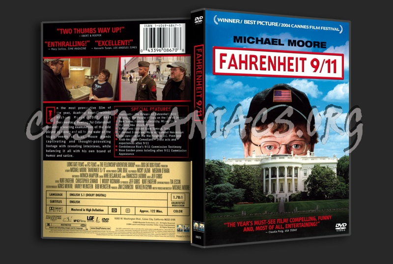 Fahrenheit 9/11 dvd cover
