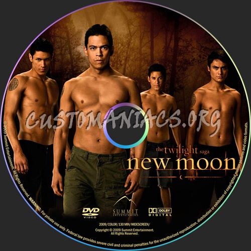 The Twilight Saga: New Moon dvd label