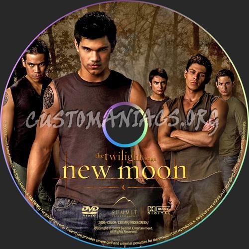 The Twilight Saga: New Moon dvd label