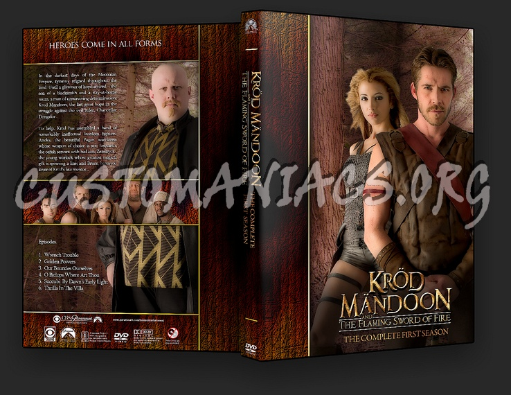 Krod Mandoon and the Flaming Sword of Fire - TV Collection dvd cover