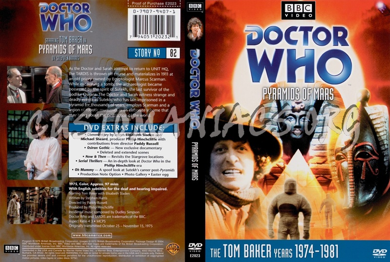 Doctor Who 82 Pyramids of Mars dvd cover