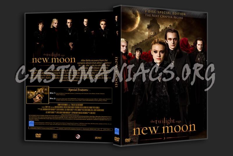 The Twilight Saga - New Moon dvd cover
