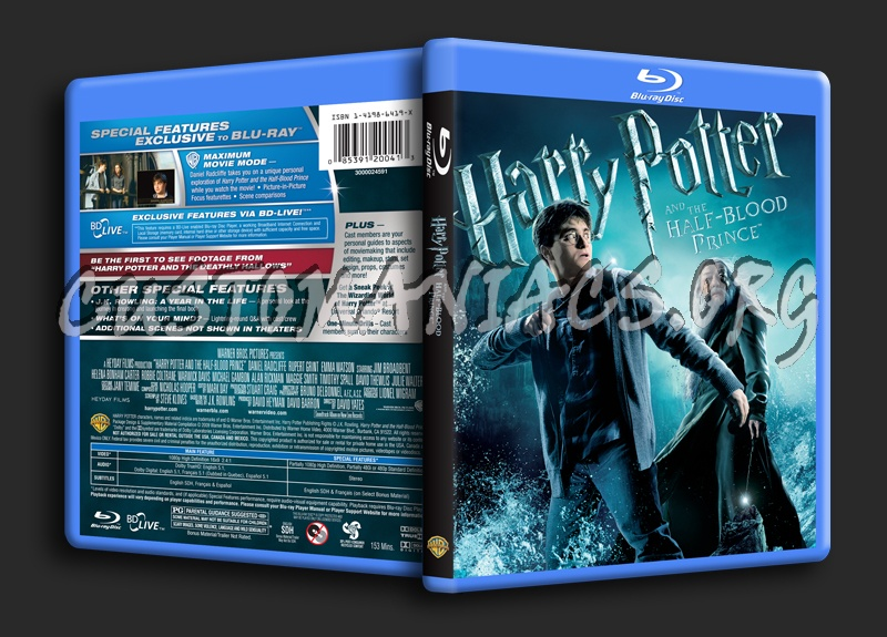 Harry Potter and the Half-Blood Prince blu-ray cover