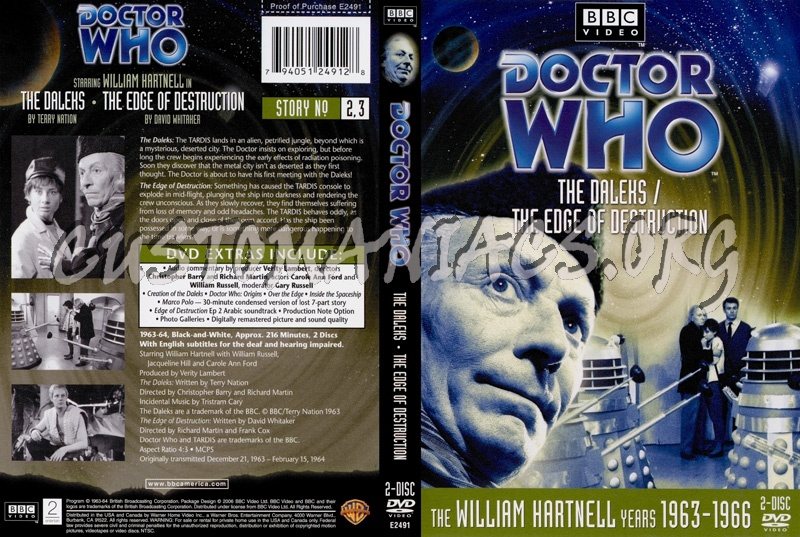 Doctor Who 2-3 Daleks - Edge of Destruction dvd cover