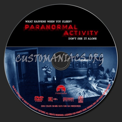 Paranormal Activity dvd label