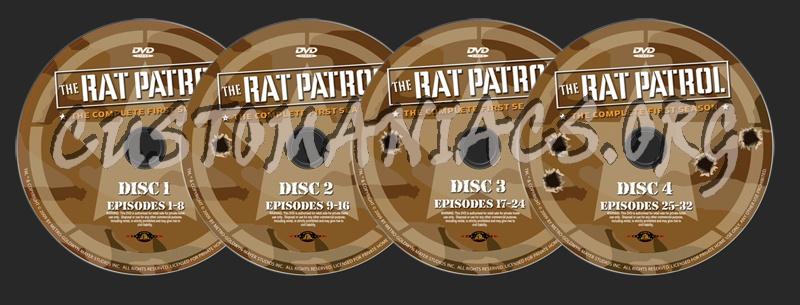 The Rat Patrol Season 1 dvd label