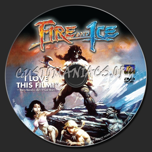 Fire And Ice dvd label