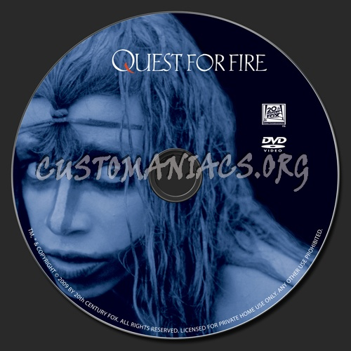 Quest For Fire dvd label