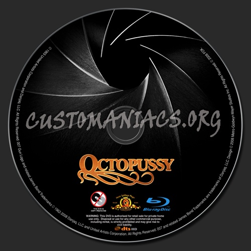 Octopussy blu-ray label