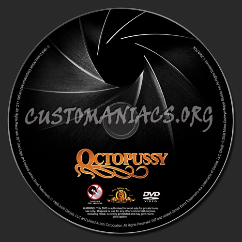 Octopussy dvd label