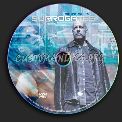 Surrogates dvd label
