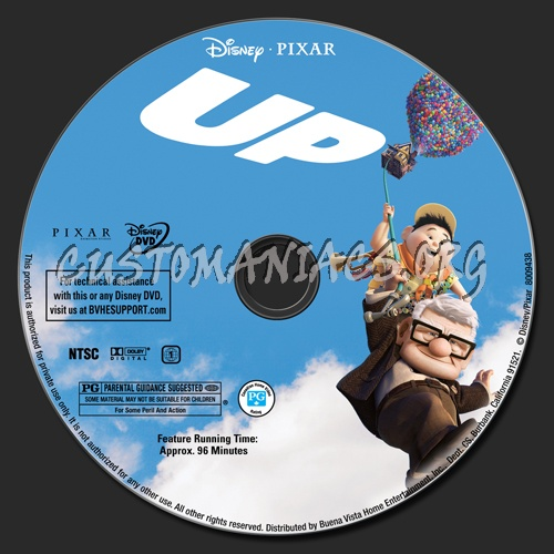 Up dvd label