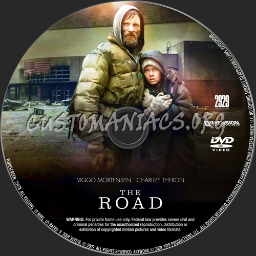 The Road dvd label