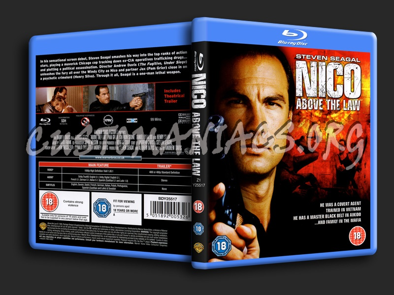 Nico (Above the Law) blu-ray cover