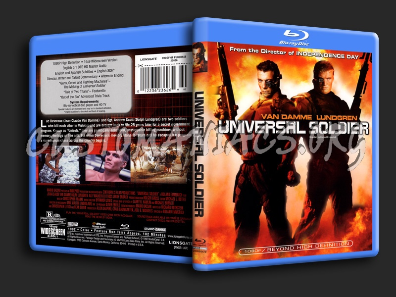 Universal Soldier blu-ray cover