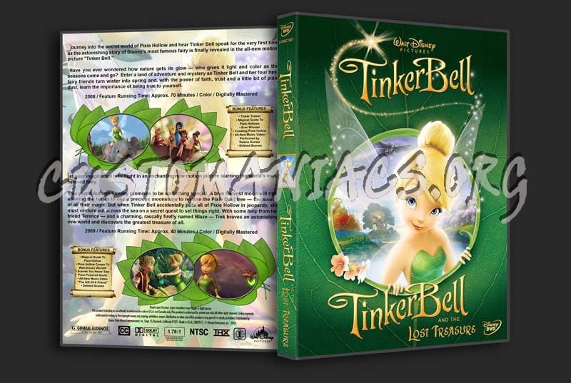 Tinker Bell / Tinker Bell and the Lost Treasure dvd cover