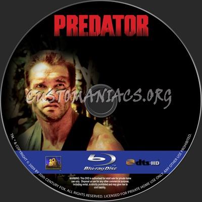 Predator blu-ray label