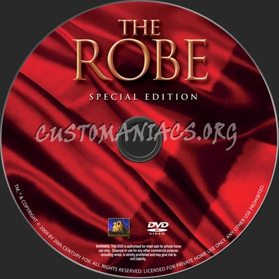 The Robe dvd label