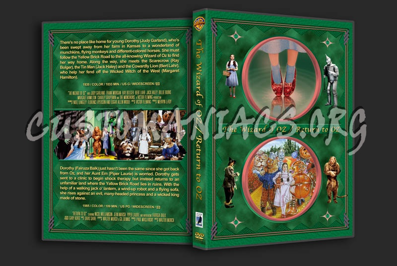 The Wizard of Oz/Return to Oz Double Feature dvd cover