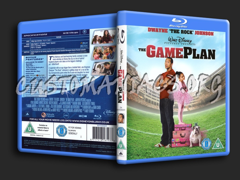 The Game Plan blu-ray cover