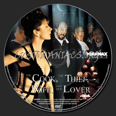 The Cook, The Thief, His Wife and Her Lover dvd label