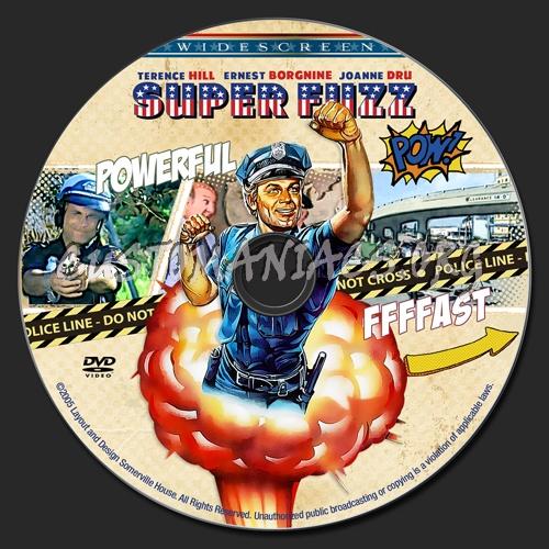 Super Fuzz dvd label