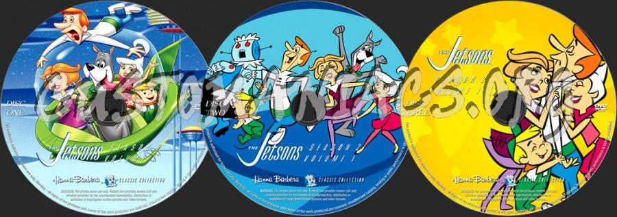 The Jetsons Season 2 Volume 1 dvd label